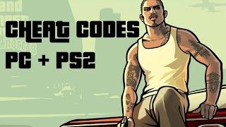 GTA SAN ANDREAS - CHEAT CODES (PC + PS2)