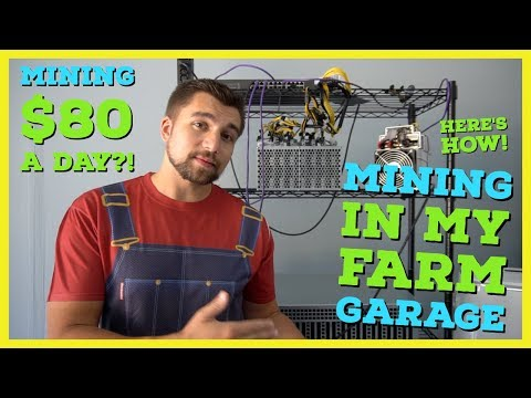 I Built a Crypto Mining Farm in My Garage | How To Setup a Mining Farm | Mining $80 a day