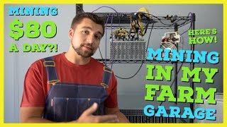 I Built a Crypto Mining Farm in My Garage   How To Setup a Mining Farm   Mining $80 a day