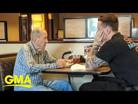 The Morning Rush - Waiter's Act Of Kindness To WWII Vet is Melting Hearts
