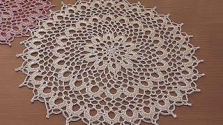 Video Crochet doily tutorial  How to crochet doily  1-5 round Part 1 download MP3, 3GP, MP4, WEBM, AVI, FLV Juli 2018