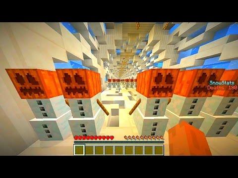 Minecraft SNOWMAN RAMPAGE #1 with Vikkstar, Lachlan, Preston & Tyler (Minecraft Mini-Game)