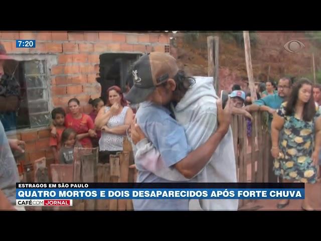 Quatro pessoas morreram depois de forte temporal em SP