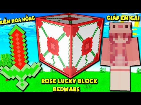 MINI GAME : ROSE LUCKY BLOCK BEDWARS  THỬ THÁCH T GAMING CÓ ĐỒ SIÊU VIP CỦA EM GÁI ??