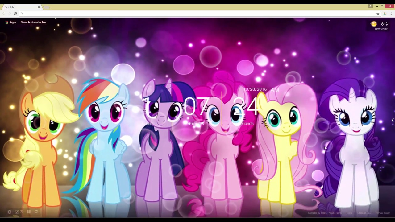 My Little Pony Live Wallpaper - YouTube