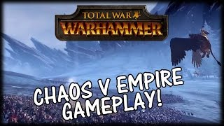 Total War WARHAMMER - Chaos v The Empire Gameplay!