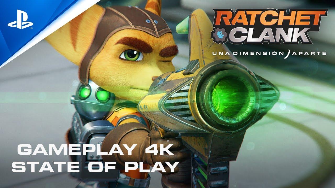 Ratchet and Clank: Una Dimensión Aparte - Gameplay State of Play con subtítulos en ESPAÑOL | PS5