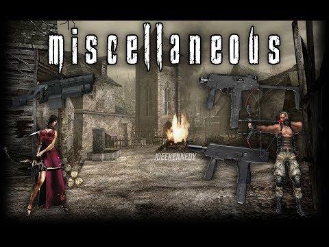 Resident Evil 4 Weapon Showcase: Miscellaneous (TMP, Mine Thrower, Bowgun)