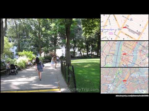 East 26th Street (Gramercy, New York City-Manhattan, NY) to Thompson St (Greenwich Village) v (...)
