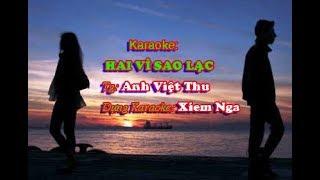 Hai vì sao lạc - Karaoke( Tuấn Vũ)
