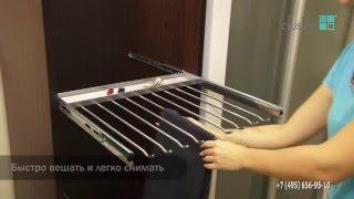 Правильное хранение одежды в шкафу - брючница с лотком для аксессуаров(Система для хранения вещей в шкафу Держатель для брюк и юбок с лотком для аксессуаров (запонки, часы, ключи..., 2016-03-10T11:40:18.000Z)