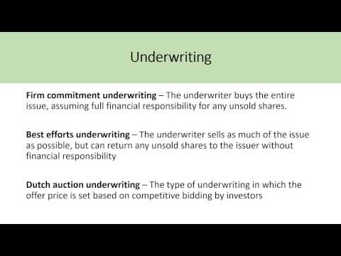 Basics Of Underwriting - What Is A Dutch Auction Tender Offe
