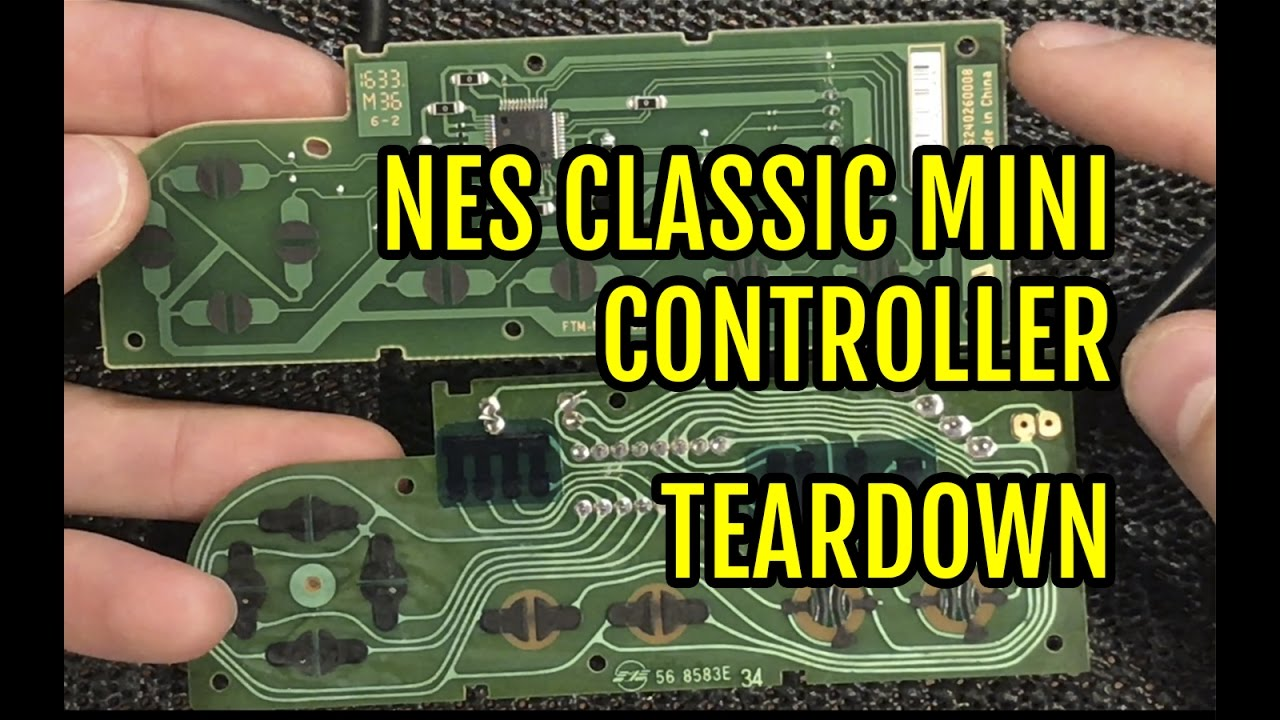 hight resolution of nes classic mini controller teardown youtube