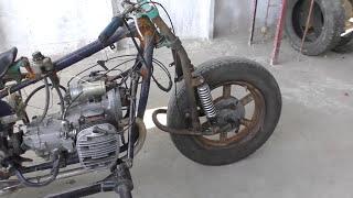 Ч 16 Мотоцикл из запчастей. Первый выезд .Свой мотоцикл-самый лучший(Самый лучший звук мотора (двигателя) мотоцикла К-750. Летит как ветер., 2016-08-13T14:27:13.000Z)