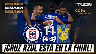 Resumen y goles | Cruz Azul 1(4)(3)1 Tigres | Semifinal Copa por México | TUDN
