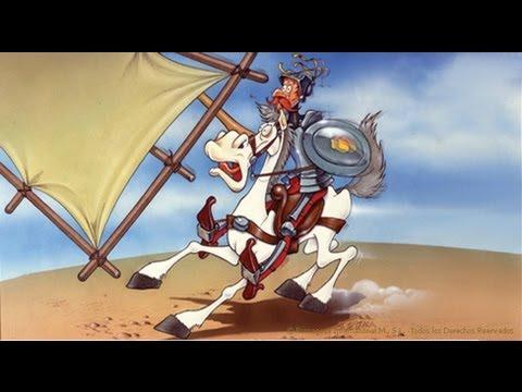 Don Quijote en la jamás imaginada aventura de los molinos