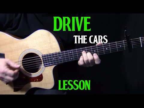 """How To Play """"Drive"""" By The Cars On Guitar    Acoustic Guitar Lesson Tutorial"""