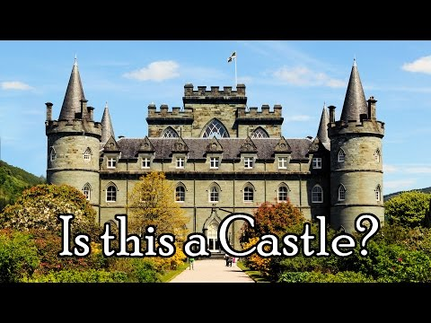 What is a REAL medieval CASTLE? a stronghold fortress citadel or château?