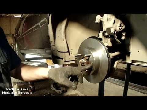 Замена передних тормозных дисков Hyundai Accent Авторемонт