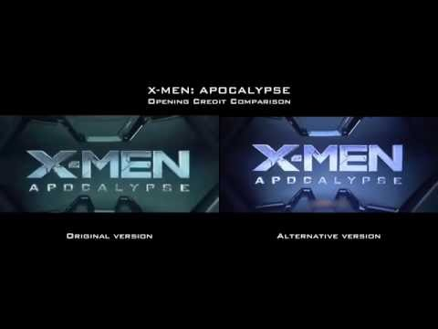 X-MEN APOCALYPSE Opening Credit comparison