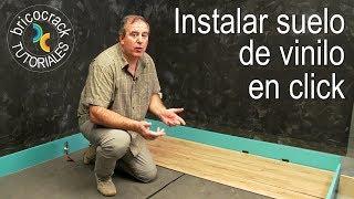 Instalar suelo de lamas resistente al agua en click (Bricocrack)