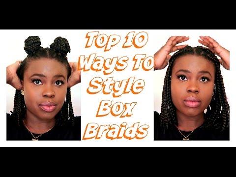How To Style Box Braids | Box Braid Bob Hairstyles 2017