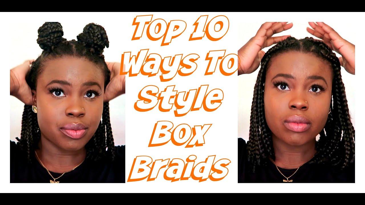 How To Style Box Braids   Box Braid Bob Hairstyles 2017 - YouTube