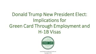 donald trump implications for green card through employment h1b eb1 eb2