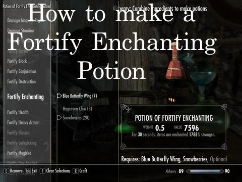 skyrim how to raise enchanting
