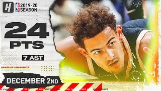 Trae Young 24 Pts 7 Ast Full Highlights | Warriors Vs Hawks | December 2, 2019