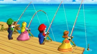 Evolution of Fishing Minigames in Mario Party