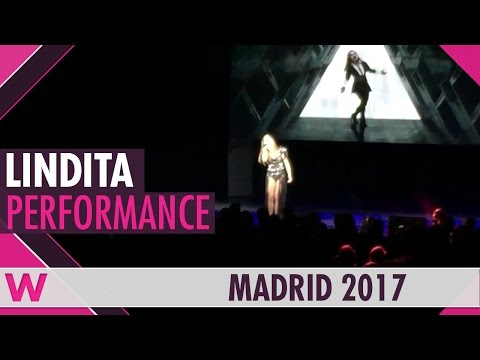 "Lindita ""World"" (Albania 2017) LIVE @ Eurovision PreParty Spain 2017"