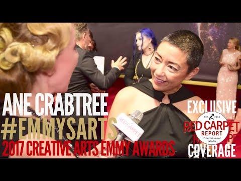 Ane Crabtree #HandmaidsTale Costume Designer, interviewed at 2017 Creative Arts Emmys Red Carpet