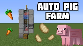 How to Make a Pig Farm (AUTO COOKER) Minecraft 1.15-1.16