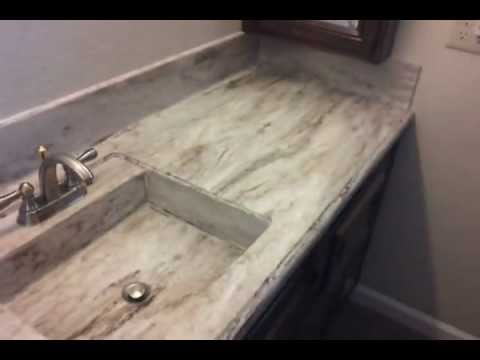 Corian Sandalwood Kitchen Countertop And Custom Integrated Sink