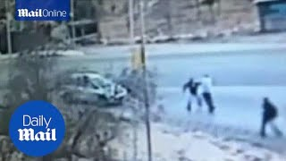 CCTV footage shows deadly West Bank stabbing attack - Daily Mail