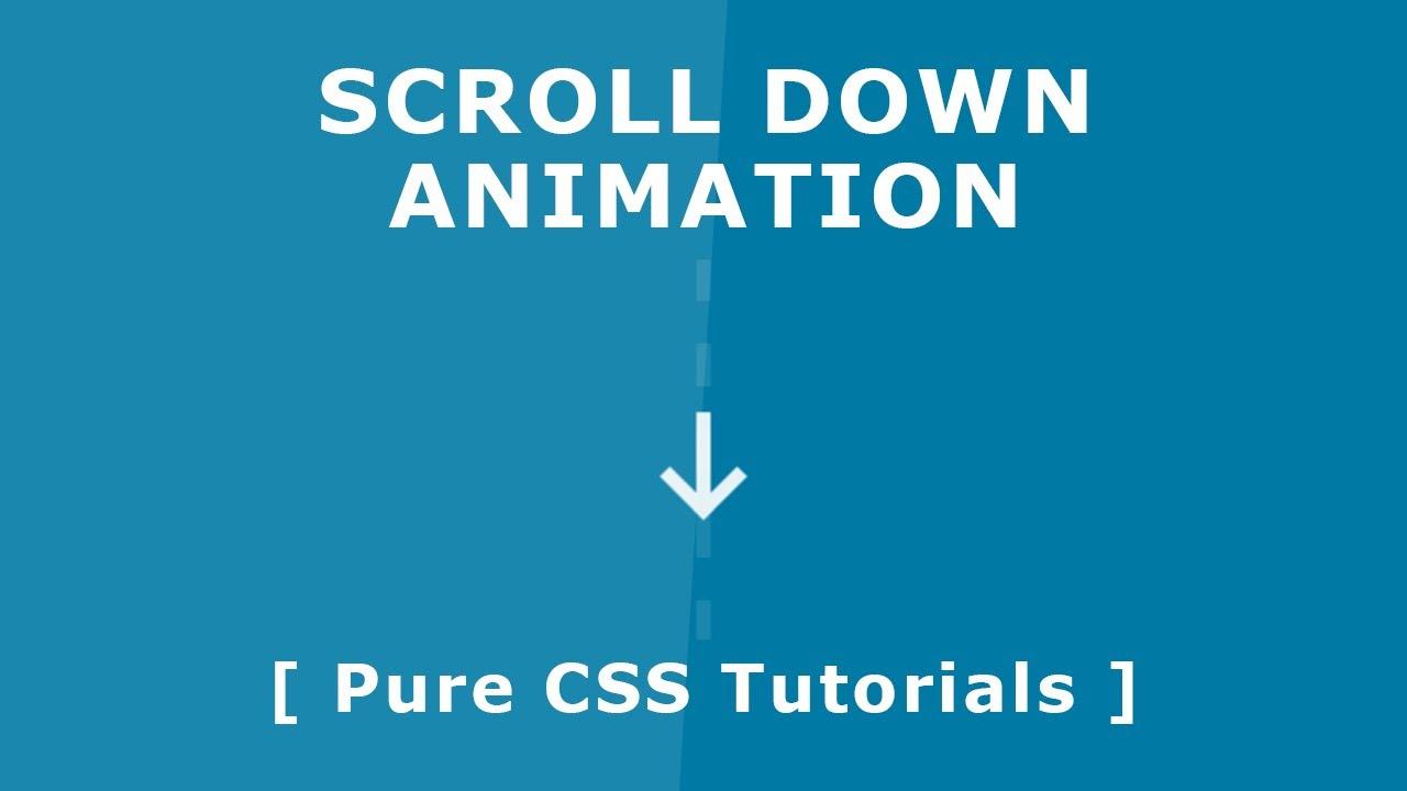 Css Scroll Down Animation - Pure CSS3 Tutorials - Custom Scroll Down  Indicator