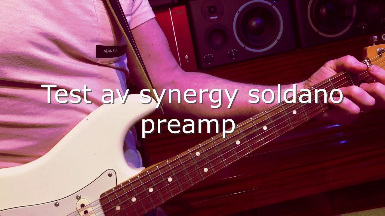 Veckans inspelning, test av synergy soldano amp