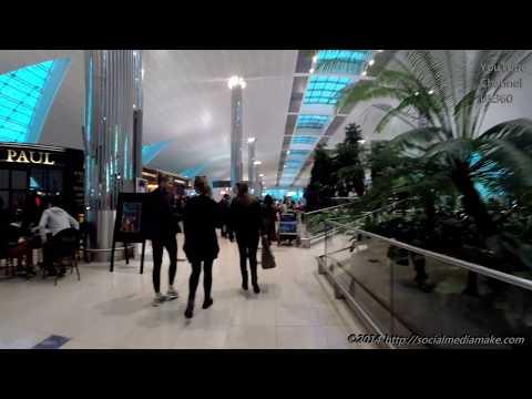 Dubai International Airport | Dubai Duty Free + Business Class Lounge + Aboard | Flight EK45