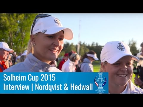 Day 1 - Interview with Anna Nordqvist & Caroline Hedwall | Solheim Cup 2015