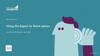 Dynamics NAV 2016: Using the Export to Word option