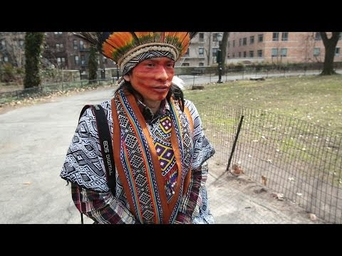 AMAZON NATIVE EXPLORES THE STREETS OF NYC - BBC NEWS