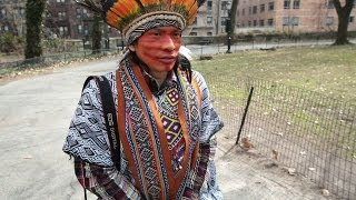Amazon Native Explores The Streets Of NYC - BBC NEWS