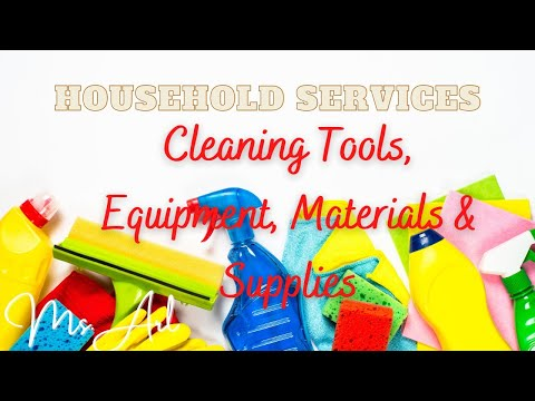Cleaning Tools, Equipment & Materials | Household Services | TLE