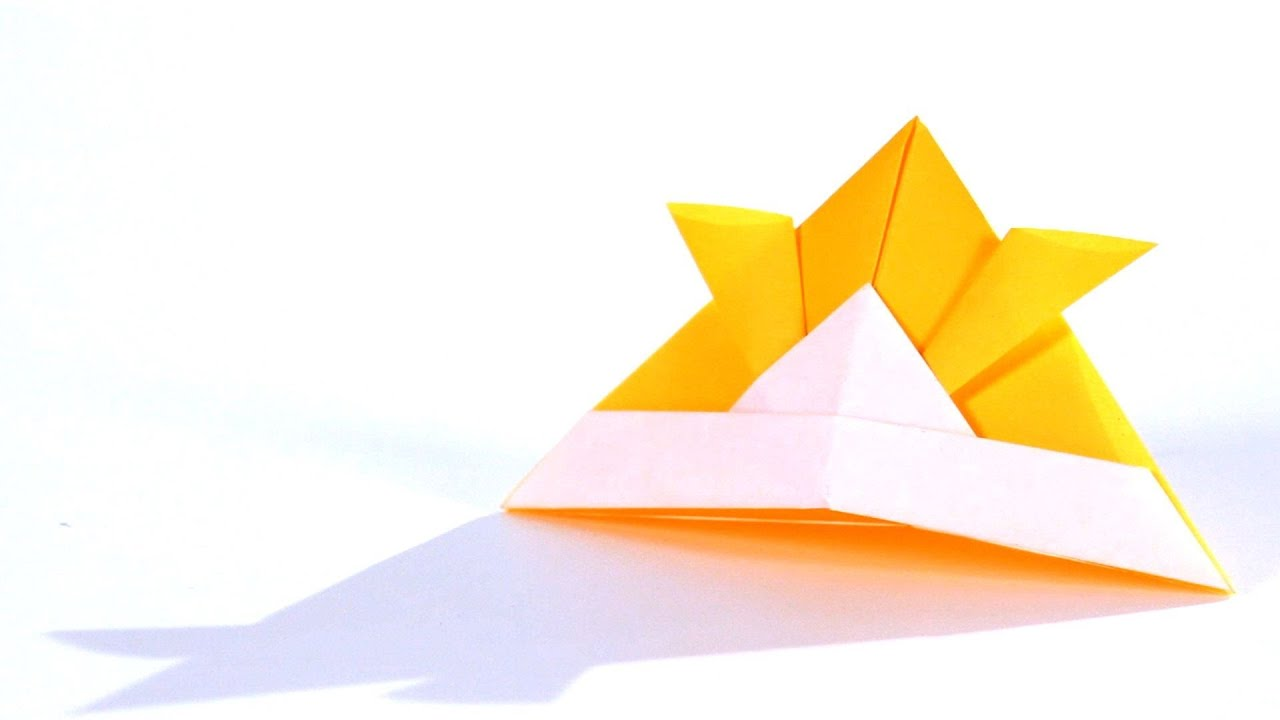 Origami Samurai Hat Instructions: www.Origami-Fun.com - YouTube | 720x1280