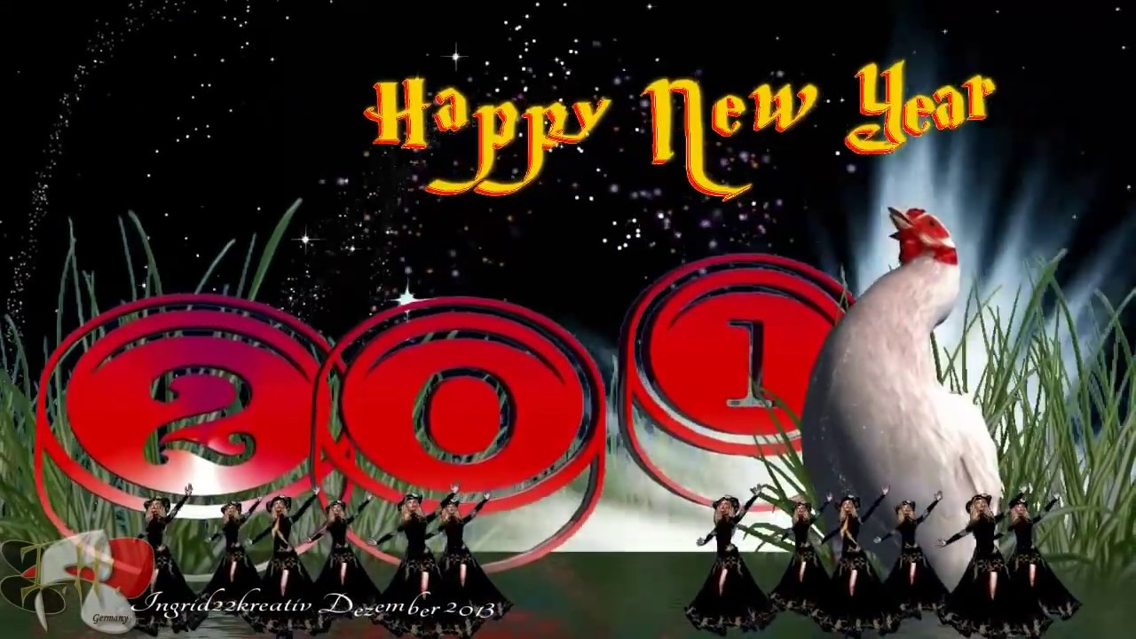 happy new year greeting card 2014 animated new year e card