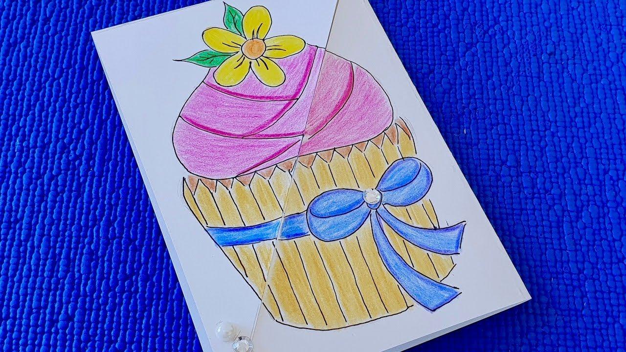 Как сделать открытку для мамы на день рождения за 5 минут