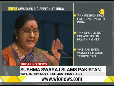 Watch: Foreign Minister Sushma Swaraj slams Pakistan in UNGA address