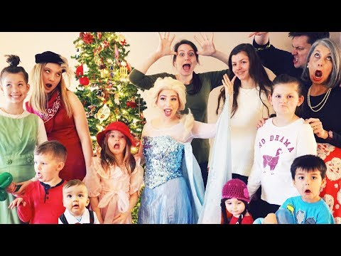 ELSA CRASHES OUR CHRISTMAS PARTY!!