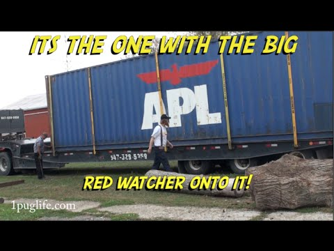 moving a shipping container the hard way